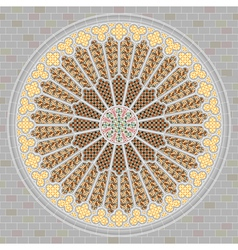 Rose window vector