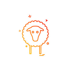 sheep icon design vector image
