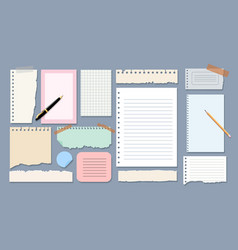 sheets copybook for notes vector image