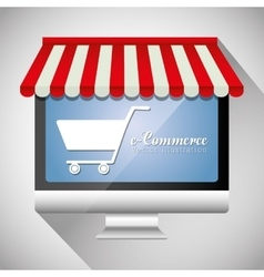Shopping and ecommerce graphic design vector image