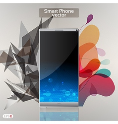 Smart phone background vector image
