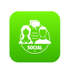 social icon green vector image