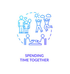 Spending time together concept icon vector
