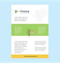 template layout for leaf comany profile annual vector image