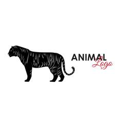 tiger icon logo symbol vector image