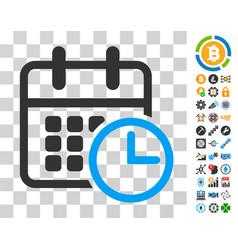 Timetable icon with bonus vector