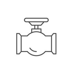 Tube valve line outline icon vector