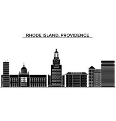 Usa rhode island providence architecture vector