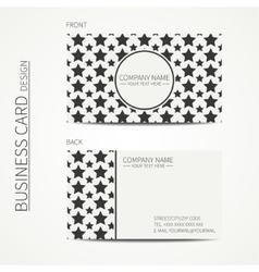 Vintage simple geometric monochrome business card vector