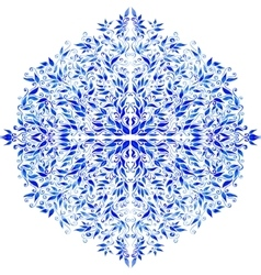 watercolor blue leaves ornament vector image