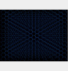 Abstract blue futuristic honeycomb cell pattern vector