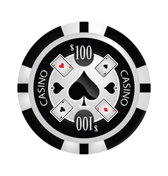 Casino Poker chip vector image vector image