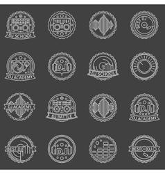 DJ labels set vector image vector image