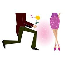 man gives woman rose vector image