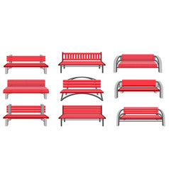 set park benches vector image