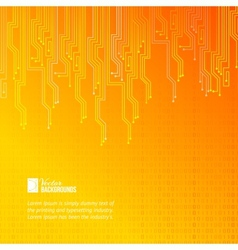 Abstract orange lights background vector image