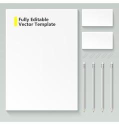 Branding mock up vector image vector image