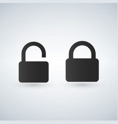 closed and open lock icons vector image