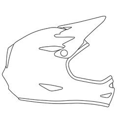Downhill mountain biking full face helmet vector image