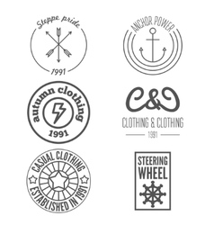 Set of logo and sticker emblem print label and vector image vector image