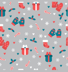 christmas seamless pattern christmas and new vector image