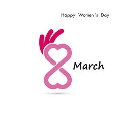 Creative 8 March logo design vector image vector image