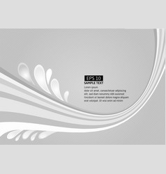 gray line wave on white background vector image