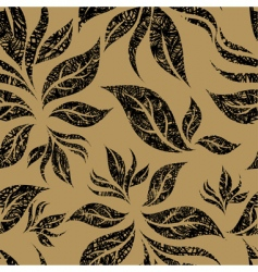 seamless beige floral pattern vector image vector image