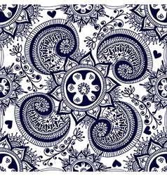Abstract seamless gzhel pattern for fabric vector image vector image