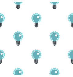 blue electric bulb pattern flat vector image vector image