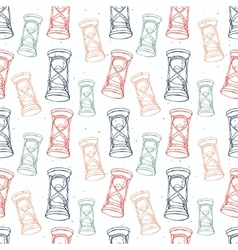 Grungy seamless pattern with hourglass vector image vector image