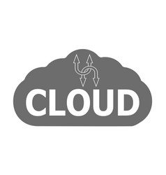 Logo cloud storage data information vector
