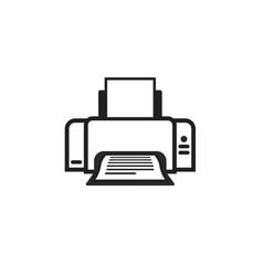 printer icon symbol line outline ink-jet vector image vector image