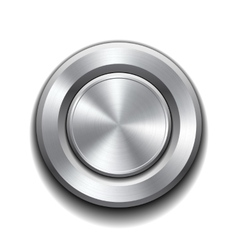 Realistic metal button vector