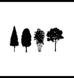 Trees in silhouettes vector