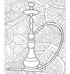 Adult coloring bookpage a cute water pipe on the vector