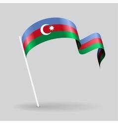 Azerbaijani wavy flag vector