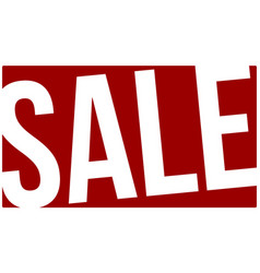 banner of sales contrast white and red vector image