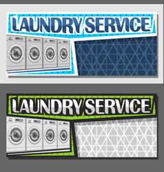 banners for laundry service vector image