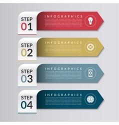 Business infographics design template vector