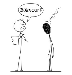 Cartoon burnout stressed or tired man or vector