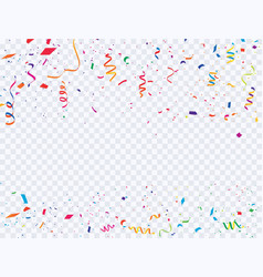 Celebration background template with confetti and vector
