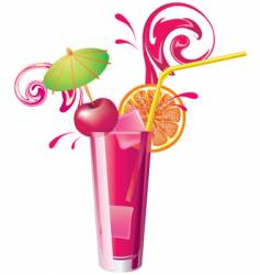 Cherry juice vector
