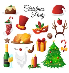 Christmas Party Set vector image