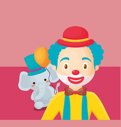 circus carnival design vector image