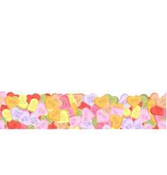 Colorful sweethearts background for february 14 vector