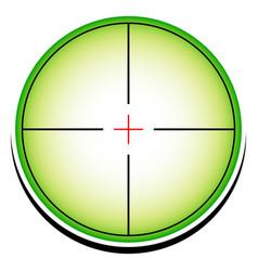 Conceptual reticle icon vector