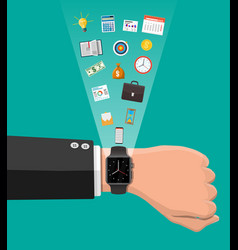Control business planning and time management vector
