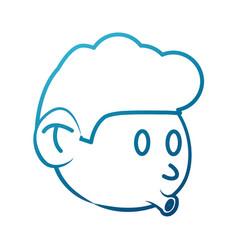 cool guy cartoon vector image vector image