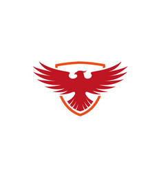 creative pheonix shield logo design symbol vector image